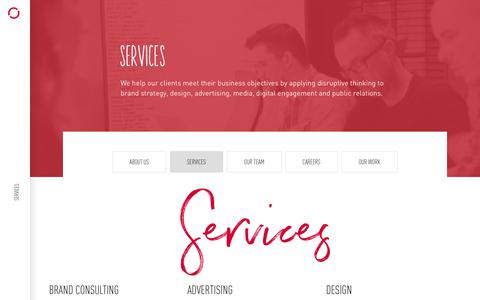 Screenshot of Services Page revolve.ca - Services   Revolve Branding & Marketing   Halifax, NS, Canada - captured July 13, 2018