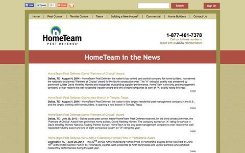 Screenshot of Press Page pestdefense.com - Latest Pest Control, Insect, and Home Defense News | HomeTeam - captured Sept. 19, 2014