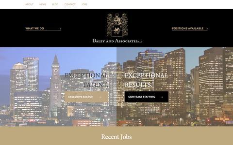 Screenshot of Home Page daleyaa.com - Home - Daley And Associates, LLC - captured Jan. 22, 2016