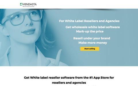 Screenshot of Landing Page vendasta.com - White Label Reseller - captured April 5, 2017
