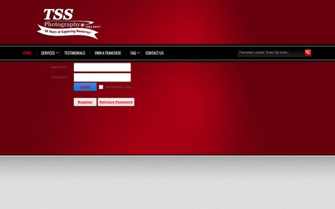 Screenshot of Login Page tssphotography.com - User Log In - captured Oct. 7, 2014