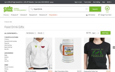 Food Drink Gifts & Merchandise | Food Drink Gift Ideas & Apparel - CafePress
