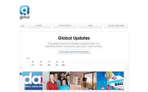 Screenshot of Press Page global.com - Global Updates | Global - captured May 9, 2017
