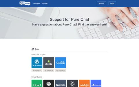 Screenshot of Support Page purechat.com - Support and Help Articles for Live Chat Software - captured Jan. 28, 2017