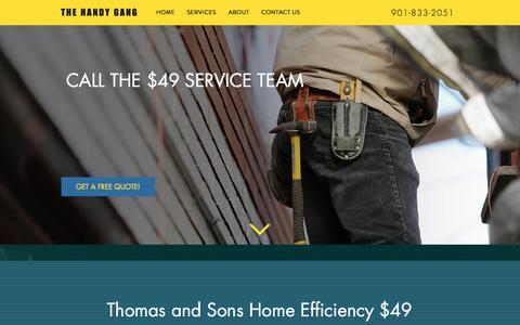Screenshot of Home Page thomasandsonshomeefficiency.com - 49-dollar-services - captured Nov. 17, 2017