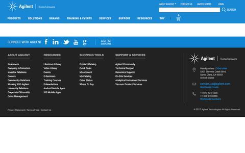 Screenshot of Privacy Page agilent.com - Agilent | Chemical Analysis , Life Sciences, and Diagnostics - captured Nov. 11, 2017