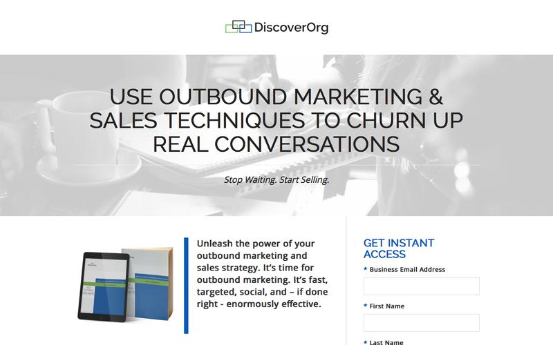 Outbound Marketing Sales Strategy Whitepaper | DiscoverOrg