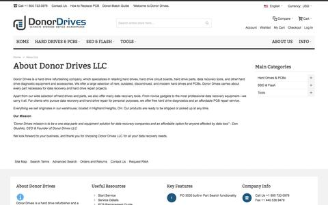 Screenshot of About Page donordrives.com - About Us - captured Sept. 19, 2017