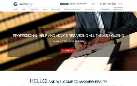 Screenshot of FAQ Page maxviewrealty.com - FAQ, Shanghai house for rent, Expats Living in Shanghai, - Maxview Realty - captured Sept. 20, 2018