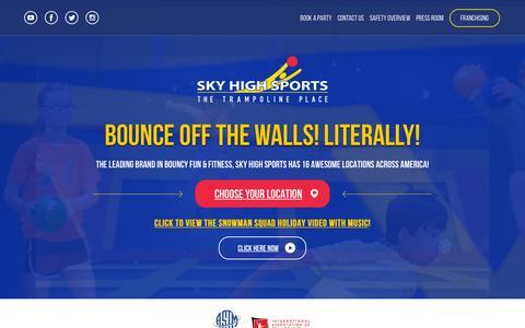 Screenshot of Home Page skyhighsports.com - Home - Sky High Sports Corporate - captured Jan. 15, 2016