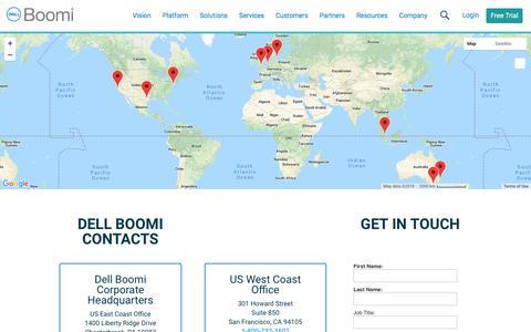 Contact - Dell Boomi