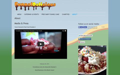 Screenshot of About Page funneldelicious.com - Funneldelicious -   About - captured Sept. 30, 2014
