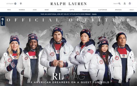 Ralph Lauren: Designer Men's, Women's, Children's, & Baby Clothing