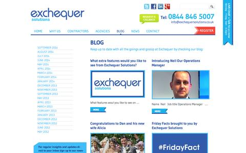Screenshot of Blog exchequersolutions.co.uk - Blog Archives | Exchequer Solutions Ltd - captured Sept. 30, 2014