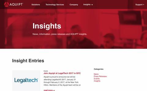Screenshot of Case Studies Page aquipt.com - Information Technology Blog for Legal Firms, SMBs & Enterprise   Aquipt - captured May 28, 2017