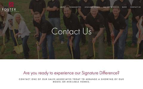 Screenshot of Contact Page fostersignaturehomes.com - Contact | New homebuilders in Edmond | Custom homes builders in edmond ok - captured Aug. 4, 2016