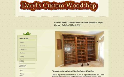 Screenshot of Home Page darylscustomwoodshop.com - Custom Cabinets | Cabinet Maker | Custom Millwork | Tampa Florida - captured Aug. 5, 2018