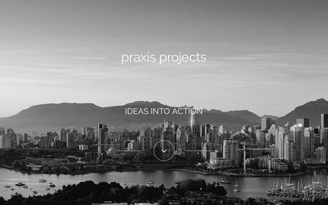 Screenshot of Home Page praxisprojects.com - Praxis Projects - Praxis Projects - captured Jan. 26, 2015