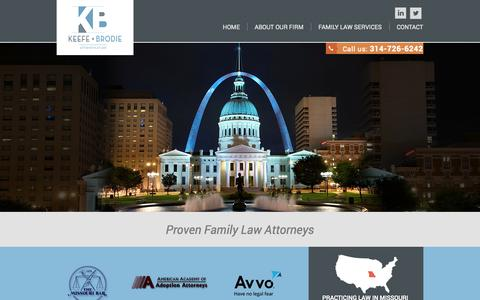 Screenshot of Blog keefebrodie.com - Family Law Lawyer St. Louis MO   Keefe & Brodie   Missouri - captured Oct. 6, 2014