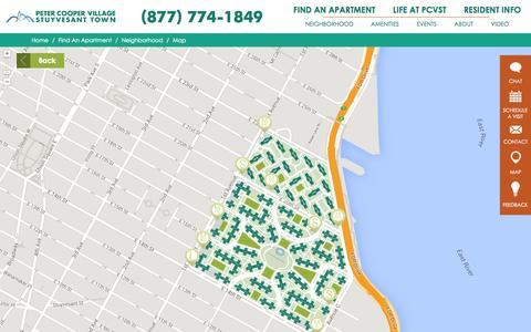 Screenshot of Maps & Directions Page pcvstliving.com - Neighborhood Map - captured Sept. 19, 2014