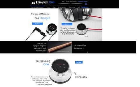 Screenshot of Home Page thinklabs.com - Thinklabs ONE - Digital Stethoscope - captured Sept. 30, 2014