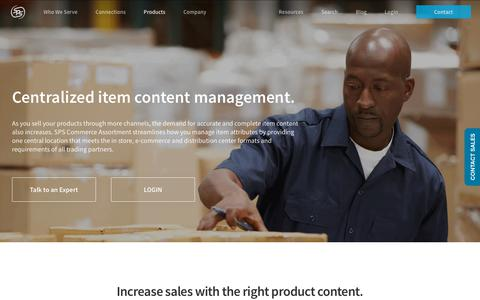 SPS Assortment item content management - SPS Commerce
