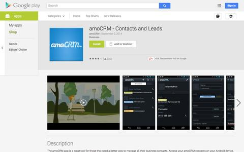 Screenshot of Android App Page google.com - amoCRM - Contacts and Leads - Android Apps on Google Play - captured Oct. 29, 2014