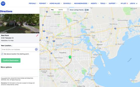Screenshot of Maps & Directions Page har.com - Map Directions - HAR.com - captured July 28, 2018