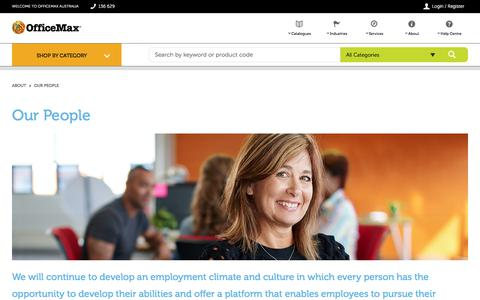 Screenshot of Team Page officemax.com.au - Our People - captured March 17, 2018