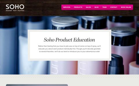 Screenshot of Products Page sohohair.ca - SOHO Hair •• Edmonton Salon Products:  Sojourn Beauty - Sebastian - Wella Color - captured Oct. 2, 2014
