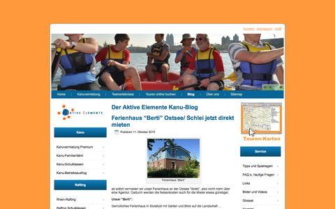 Screenshot of Blog aktive-elemente.de - Aktive Elemente Blog, News, Befahrungsinfos Sieg und Wupper - captured June 6, 2016