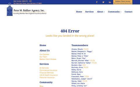 Screenshot of Maps & Directions Page bakkerinsurance.com - Peter M. Bakker Agency, Inc. - captured Oct. 22, 2014