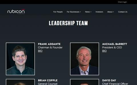 Screenshot of Team Page rubiconproject.com - Leadership - Rubicon Project - captured March 19, 2017