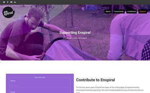 Screenshot of Support Page enspiral.com - Support - enspiral-dev - captured July 19, 2018