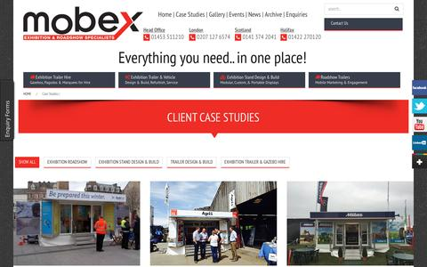 Screenshot of Case Studies Page mobex.co.uk - Client Case Studies - Mobex - captured Aug. 17, 2016