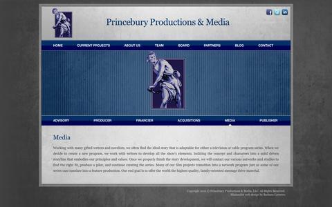 Screenshot of Press Page princebury.com - Princebury Productions & Media | Media - captured Oct. 3, 2014