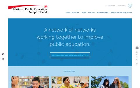 Screenshot of Home Page npesf.org - National Public Education Support Fund - captured Oct. 20, 2018