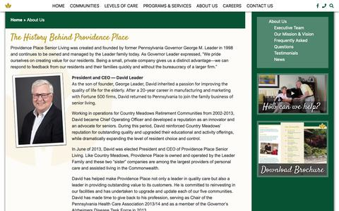 Screenshot of About Page providence-place.com - About Us – Providence Place - captured Oct. 30, 2018