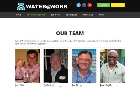 Screenshot of Team Page wateratworkministry.org - About Water@Work | Water@Work Ministry - captured Oct. 19, 2017