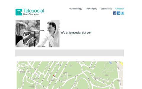 Screenshot of Contact Page telesocial.com - Contact   Telesocial - captured Nov. 3, 2018