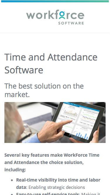 Time and Attendance Software | WorkForce Software