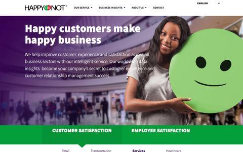 Customer Satisfaction in Services Industry - HappyOrNot