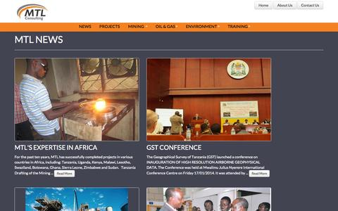Screenshot of Press Page mtlconsulting-tz.com - MTL News in Tanzania - captured Oct. 3, 2014