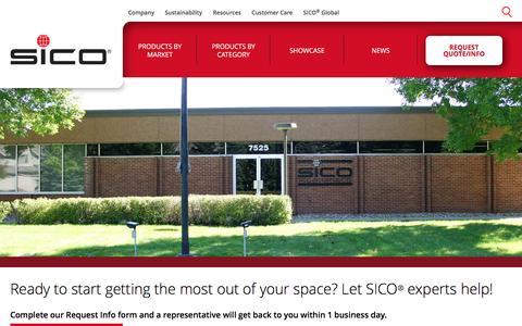 Screenshot of Contact Page sicoinc.com - Contact | SICO - captured Nov. 18, 2016