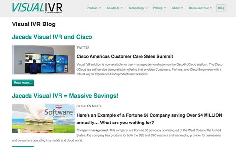 Screenshot of Blog visual-ivr.com - Visual IVR Blog - captured June 23, 2017