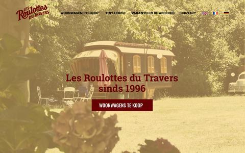 Screenshot of Home Page woonwagen-kopen.nl - De mooiste woonwagen kopen! Les Roulottes du travers sinds 1996. - captured Oct. 29, 2018