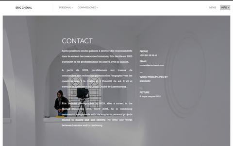 Screenshot of Contact Page ericchenal.com - CONTACT — ERIC CHENAL - captured March 5, 2016
