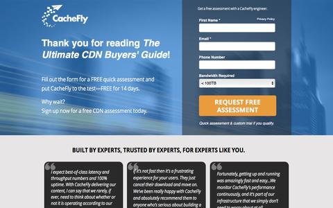 Screenshot of Landing Page cachefly.com - Fast CDN | CacheFly Content Delivery Network - captured May 24, 2017