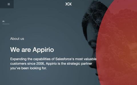 Screenshot of About Page appirio.com - Appirio - captured Feb. 27, 2019