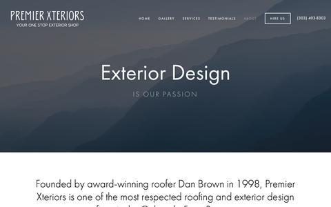 Screenshot of About Page premierxteriors.com - About — Premier Xteriors - captured Nov. 5, 2018